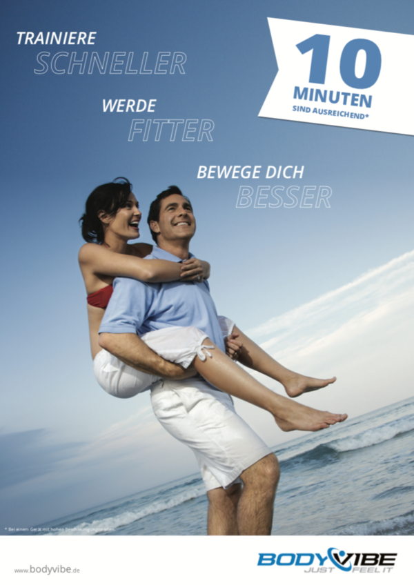 "BodyVibe Poster ""Trainiere schneller"" DIN-A1"